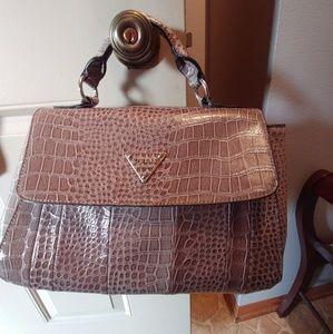 Guess alligator texture purse